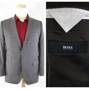 BOSS Hugo Boss Gray Brown Wool Sport Coat 42R